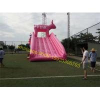 Quality pink pig slide inflatable for sale