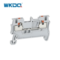 White Feed Through Wire Push In Terminal Block 1.5mm Type With 3.5 Thickness Manufactures