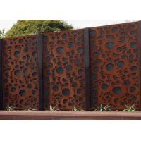 Rusty Finish Large Outdoor Metal Wall Sculpture OEM / ODM Acceptable Manufactures