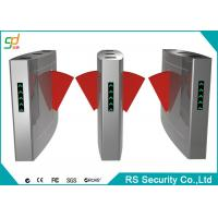 304 Stainless Steel Security Automatic Turnstiles For Subway Station Flap Gate Manufactures