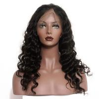 Quality 150 Density Braided Full Lace Human Hair Wigs Brazilian Deep Wave for sale