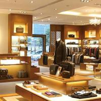 Wooden display shelf for men's clothing store design Manufactures