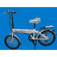 36V 200W 7 Speed Folding Electric Powered Bicycles With Alloy Frame KDJALY004 Manufactures