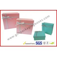 China Yellow Cosmetic Packaging Gift Box with Ribbon , cardboard gift boxes on sale