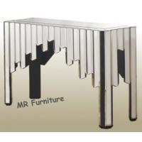 Comb Design Mirrored Console Table For Living Room Glass Mirror Finish Manufactures