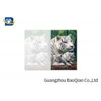 Lovely Animals 3D Image Lenticular Card Printing Two Sides CMYK Offset Printing Manufactures