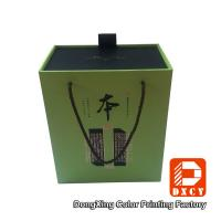 Elegant Eco Sturdy Cardboard Wine Gift Boxes Customized Gold Stamping Surface Manufactures