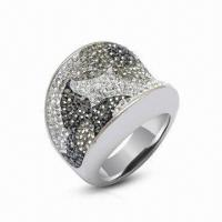 Swarovski Jewelry/Ring, Sterling Silver Ring with Crystal Ring, Available in New Design Manufactures