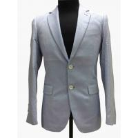 Light Gray Tailored Mens Tight Fit Suits Serge Pattern Flaps Pockets Formal Wear Manufactures