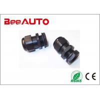 Black 20mm Cable Gland , Nylon Rubber Ip68 Cable Gland International Standard Manufactures