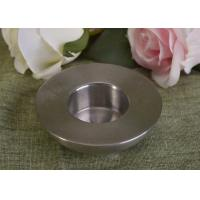 25Ml Mini Simple Silver Tealight Metal Candle Holders Thick Wall Eco Friendly Manufactures