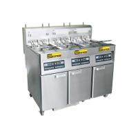 84 Liters Commercial Electric Deep Fryer 3 Oil Tank Built - in Oil Filtration System Manufactures