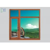 Quality CNC Cutting Aluminium Casement Windows Invisible Mosquito Screen 50 / 55 Series for sale