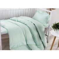 Size Adjustable 5 Pcs Modern Crib Bedding Sets Double Gauze / Cotton Ruched Manufactures