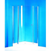 Curved Pivot Shower Enclosure / Clear Glass Shower Enclosures With Stable Fixed Shower Doors Manufactures