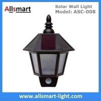 "11"" Inch Motion Sensor Solar Wall Lights Hexagonal Sconce Aisle Lighting Beautiful Garage Door Garden Lamp Manufactures"