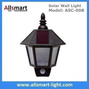 "11"" Inch Motion Sensor Solar Wall Lights Hexagonal Sconce Aisle Lighting Beautiful Garage Door Garden Lamp Manufactures"