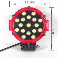 10-30V DC 51 Watt Round Outdoor LED Flood Lights Stainless Steel Mounting Bracket Manufactures