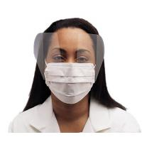 Quality Fluid Resistant Medical Face Mask Single Use , Surgical Mask With Face Shield for sale