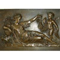 Mother With Angel Wall Art Bronze Relief Casting Surface Finish WS-C485 Manufactures
