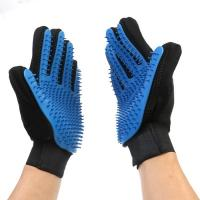 Flexible Five Finger Pet Comb Glove Gentle Dog Brush Glove For Long Short Hair Manufactures