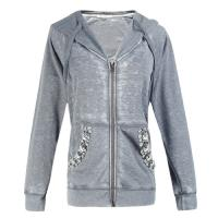 Long Sleeve Cotton Casual Ladies Clothing womens jackets with hoods Manufactures