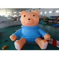 Cute Inflatable Cartoon Characters Bear In Shirts , Cartoon Characters For Birthday Parties Manufactures