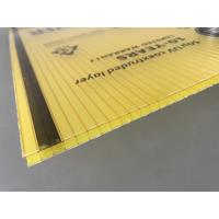 Quality Yellow Color Polycarbonate Twin Wall Roofing Sheets 4mm - 10mm Thickness for sale