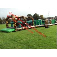 Army inflatable children's assault course26.5x27.5 Inflatable Obstacle Course Manufactures