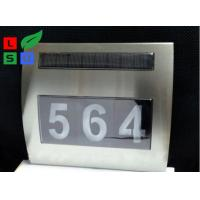Quality Wall Mounted Solar Powered Signs 5050 SMD LED Solar House Number Light for sale