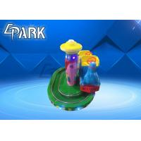 Amusement Park Rides / Zoo Steam Train Track Ride Fiberglass Material Manufactures