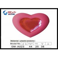 Pink Heart Kids Bedroom Knobs , PVC And Crystal Colorful Rubber Cabinet Knobs Soft Plastic Furniture Handles Manufactures