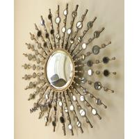 Fashionable Metal Mirror Wall Decor Geometric Design Durable Material Manufactures