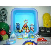 Blue Synchronized Floating Inflatable Swim Ring , Swimming Floats For Children Manufactures