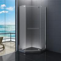 Diamond Bathroom Shower Enclosures , Clear Glass Shower Cabin 900 x 900 Manufactures