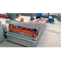 Quality Colored IBR Roofing Sheet Roll Forming Machine With PLC Control 10 - 15m / min for sale