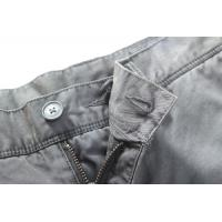 Quality Mens Grey Casual Long Pant clothing dyeing services Eco Friendly for sale