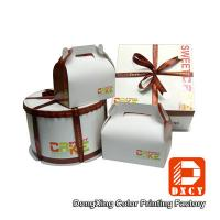 Custom Made Cake Packaging Boxes , Cardboard Handmade Cake Box Packaging Manufactures