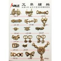 Popular Nickel Sparkling Zinc Alloy Buckle , Small Shoe Buckles For Woman