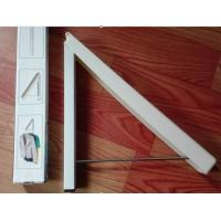 Wall Mounted Invisible Plastic Clothes Hangers Space Saving Durable Aluminum Manufactures