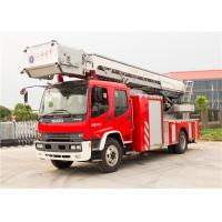 5 - Speed Manual Gearbox Aerial Fire Truck , Four Door Structure Fire Engine Ladder Truck Manufactures