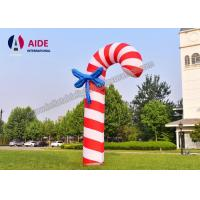 3 M Christmas Candy Cane Inflatable Holiday Decor Santa Gift Red Oxford Cloth Manufactures
