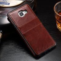 Handmade Leather Samsung A3 Back Cover , Durable Card Holder Phone Case Manufactures