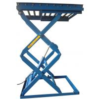 1.1M 3000KG Hotel Exhibition Hall Hydraulic Stationary Scissor Lift with Extension Platform Manufactures