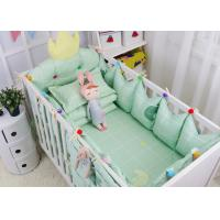 Green Elephant Unique Girl Baby Bedding Sets 100% Cotton Bed Reducer Size Adjustable Manufactures