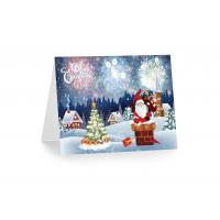 Greeting Card Lenticular Printing Services PP Plastic X-mas Design Manufactures
