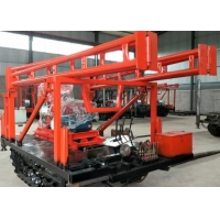 200m Depth Crawler Mounted Drill Rig Hydraulic Automatic Infeed For Building Exploration Manufactures