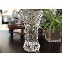 25cm Height Transparent Clear Glass Vases Machine Made Desktop In Stock Manufactures