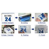 Colorful PU Heat Transfer Vinyl Rolls Contour Cutting Plotter For Custom T Shirt Manufactures
