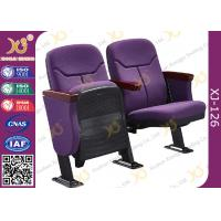 Buy cheap Triangle Armrest Short Back Rest Auditorium Church Chairs With Folding Soft Padded Seat from wholesalers